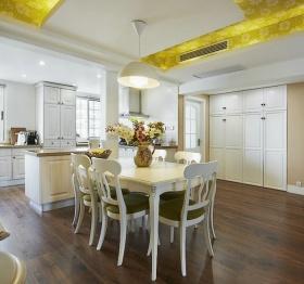 黄色欧式风格餐厅吊顶装修设计