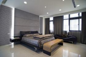 现代时尚灰色卧室美图欣赏