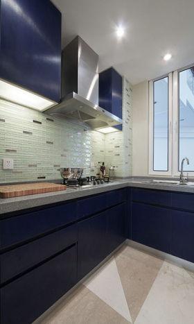 2016大气时尚蓝色现代风格厨房设计案例
