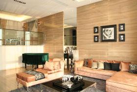 橙色创意混搭客厅设计