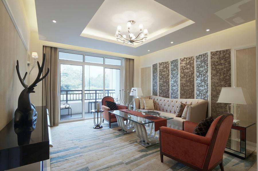 2016精致现代风格银灰雅致客厅装潢设计图