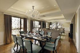 褐色新古典风格餐厅装修设计图