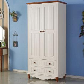 浪漫白色地中海风格衣柜设计装饰图