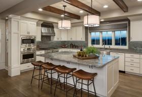 白色混搭风格厨房装修案例