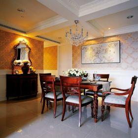 褐色美式风格餐厅装饰图
