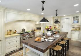 诗意米色美式风格厨房效果图欣赏