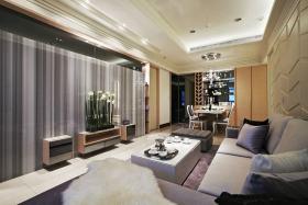 灰色新古典客厅设计图