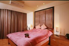 现代橙色卧室装修效果图