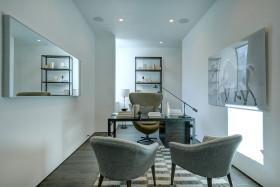 创意优雅自然混搭风格书房装修设计