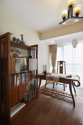 传统中式风格书房装修效果图