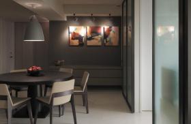 现代古朴黑色餐厅设计欣赏