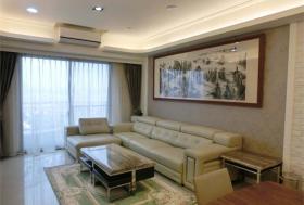 绿色简约风格客厅沙发装潢