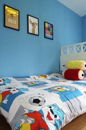蓝色雅致现代风格儿童房局部装饰图片