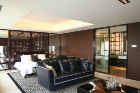 褐色中式风格卧室装修赏析