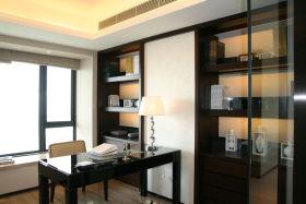 黑色中式风格书房装修设计赏析