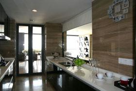 现代风格灰色厨房装修效果图片