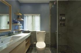 浪漫时尚蓝色地中海风格卫生间装饰设计图片