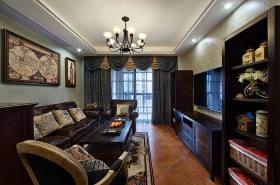 新古典黑色雅致客厅背景墙美图赏析