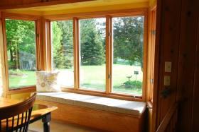 橙色浪漫美式风格飘窗设计装潢
