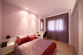 粉色现代卧室装修布置