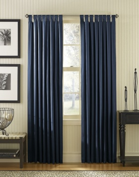 现代时尚蓝色窗帘装修设计图