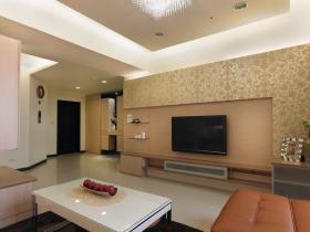 现代风格雅致时尚客厅背景墙图片欣赏