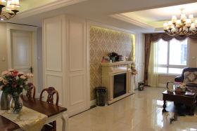 简欧风格客厅背景墙装修设计