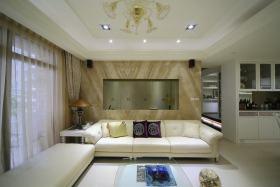 简欧米色客厅装潢设计美图