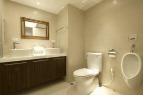 白色清爽雅致美式风格卫生间设计赏析