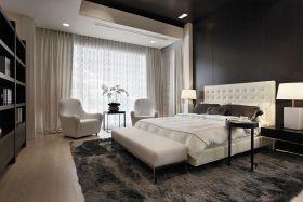 现代风格灰色摩登卧室装修效果图