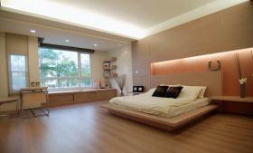 简约风格米色大空间卧室装修图片