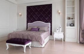 新古典优雅紫色浪漫卧室装饰案例