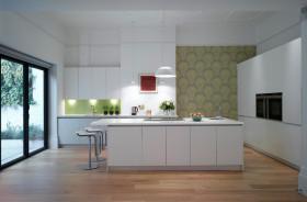 现代简约开放式厨房装修布置