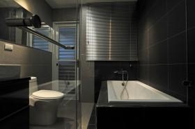 黑色时尚摩登现代风格卫生间设计欣赏