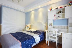 蓝色简欧风格儿童房装潢效果图