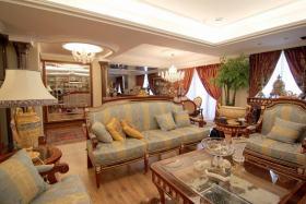 橙色华丽欧式客厅装修图片
