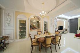 欧式风格黄色温馨餐厅装修设计