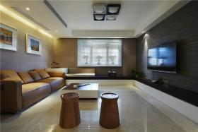 米色时尚现代风格客厅设计图片
