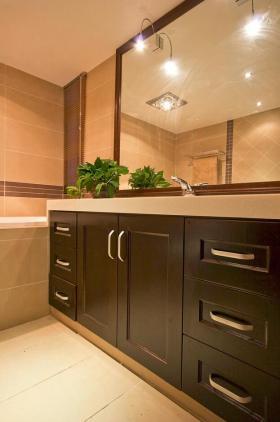 自然清爽现代风格卫生间浴室柜赏析