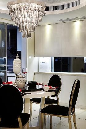 灰色新古典风格餐厅设计图