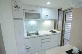 简约风格时尚白色厨房效果图欣赏