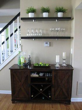 精致素雅现代风格酒柜设计案例