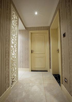 米色精致简欧风格过道装潢装修案例