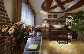 美式风格休闲琴房装修布置