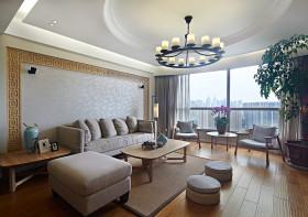 现代灰色客厅吊顶装修设计效果图