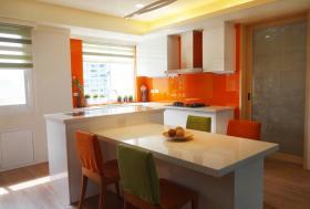 创意雅致简约风格橙色吧台装修