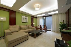 中式绿色雅韵客厅装修