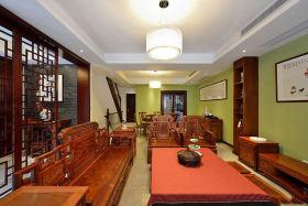 中式红色雅韵客厅吊顶装饰案例