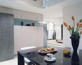 灰色现代风格餐厅装饰柜设计案例