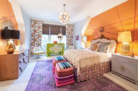橙色东南亚风格活力卧室图片欣赏